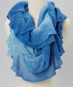 Blue Ombre Scarf