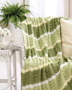 Crochet Chevron Afghan Throw Home Decor Accent Hand by crochetlov, $100.00