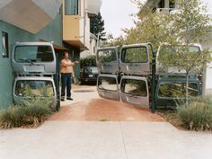 """For those who aren't afraid to say """"yeah, I upcycle!""""   reuse car doors & upcycle them into a gate"""