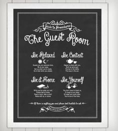 Guide to Procedures Guest Room Print   Art Prints   Lettered & Lined   Scoutmob Shoppe   Product Detail