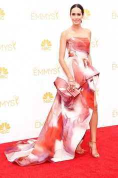 Louise Roe at the 66th Annual Emmy Awards // #Emmys #redcarpet #Emmys2014
