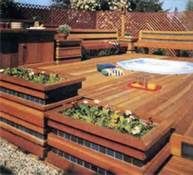 Above Ground Pool Deck Ideas - Bing Images Planters
