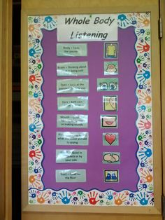 Whole Body Listening is an amazing way to teach students how to actively listen.