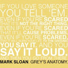 Mark Sloan. -or the moment oasses by....