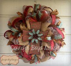 Western Rustic Cross Wreath