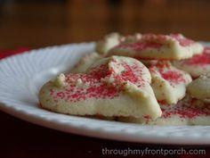 Valentine Spritz Cookies - Through My Front Porch spritz cookies