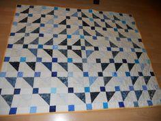 blue quilt, zase modrá, quilt top, half squar, squar triangl, fotoalba uživatelů