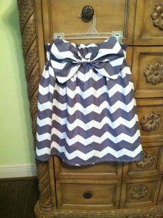 Ladies Chevron Big Bow Skirt. $25.00, via Etsy.
