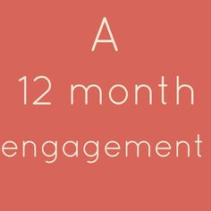 12 Month Engagement Wedding Planning Checklist....also has 4 month and 6 month engagement check lists.