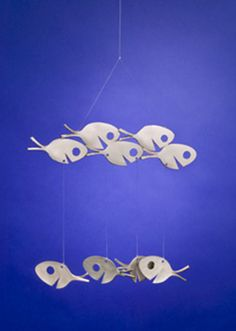Fish Wind Chime Recycled Silverware