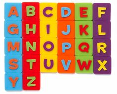 Kinabis - Alphabet Pieces that you can attach to the grid on the back of your nabi 2!