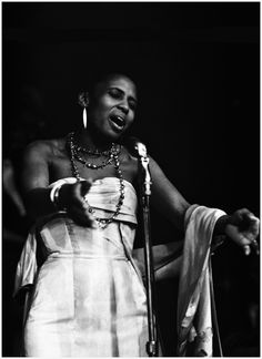 """Jim Marshall, 1960, Miriam Makeba, Monterey Jazz Festival; Miriam Makeba (""""Mama Africa""""), was a South African singer and civil rights activist. She actively campaigned against South African system of apartheid. As a result, her passport had been revoked in 1960 and South African government revoked her citizenship & right of return in 1963. As the apartheid system crumbled she returned home for the 1st time in 1990. Today would have been her 81st birthday. May her soul rest in peace. #portrait"""