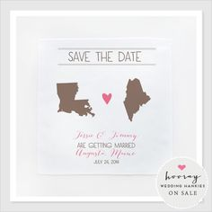 save the dates wedding hankies-would be cute to give the bridal party and parents
