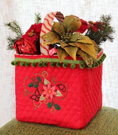 Free project tutorial for decorative flower bags.
