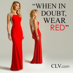Camille La Vie red long evening dresses for homecoming and prom