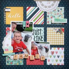 Layout created by design team member Wendy Antenucci using our new Homespun collection