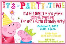 Peppa Pig Birthday Party PRINTABLE Custom Invitation, new in my shoppe!!