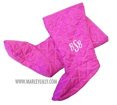 Extra Pair of Monogrammed Rain Boot Liners #BootsByTwoality for #MarleyLilly