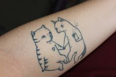 cat tattoos22 Meow! 22 Cool Cat Tattoos