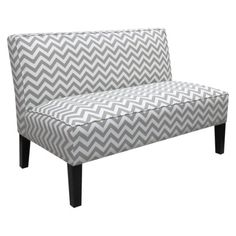 ZigZag Armless Settee - Grey this would be cool for the dining room. would look very cool with our red chairs we already have.