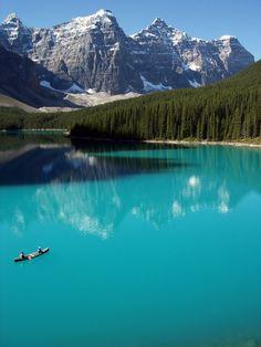 Moraine Lake, Alberta, Canada.