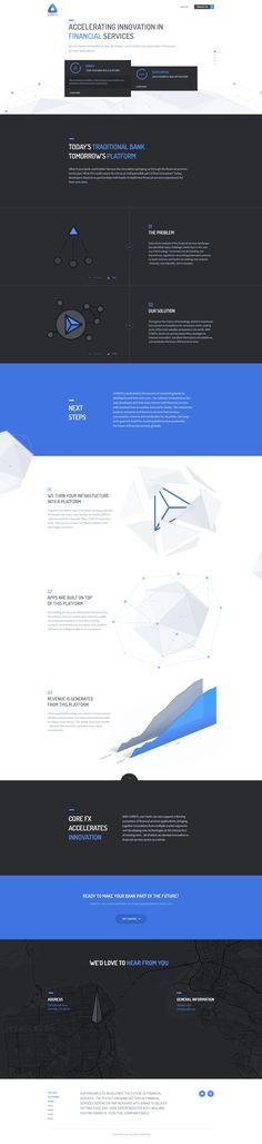 Unique Web Design, Corefx @4feel #WebDesign #Design (http://www.pinterest.com/aldenchong/)
