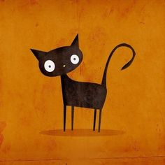 halloween cat. cat art, kitty cats, chat noir, big eyes, black cats, backgrounds, prints, baby cats, halloween