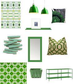 kelly green.