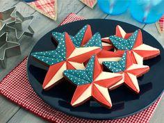 Patriotic Barn Star Cookies stars, patriot star, star cooki, 4th of july, barns, barn star, cookies, semi sweet, patriot barn