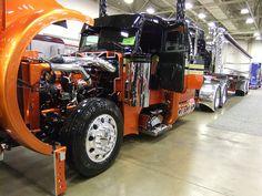 Custom Big Rig  by Schneider National, Inc., via Flickr schneider nation, del deport, custom big, custom semi, big rigz, sweet rig, deport en