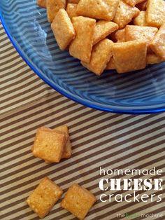 Homemade Cheese Crackers // The Haas Machine
