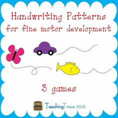 These handwriting games are designed for little fingers to encourage fine motor development.