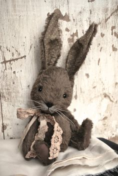 Artist Bear handmade Bunny Lissy SOLD by bearwithmee on Etsy, £80.00