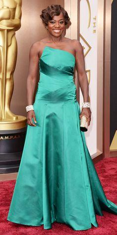 Viola Davis 2014 Oscars, Academy Awards #celebrities #celebrityfashion #redcarpet