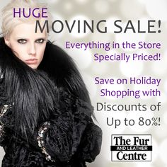 HUGE #Fur #Coat #Sale! Get Your Holiday Shopping Done Early at Fur & Leather Centre! Save up to 80% on #Womens #Fur #Coats & #Accessories! After 30 years at 601 S Lindbergh, we're very excited to announce that we're moving to Clayton!