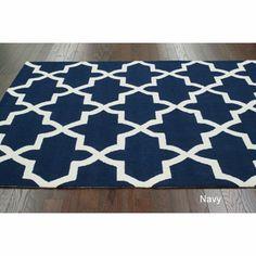 Handmade Alexa Moroccan Trellis Wool Rug (5' x 8') | Overstock.com