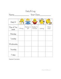 Daily 5 Log