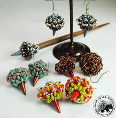 *P Two Spikes You're Out - Earring Pattern