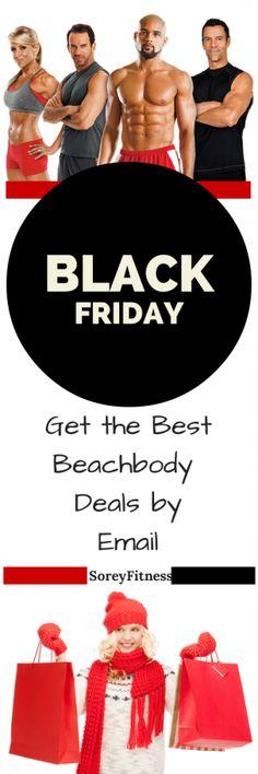Beachbody Black Friday Deals usually start the Wednesday before Thanksgiving! Make sure to get on our Black Friday e-mail list here to get first access. http://soreyfitness.com/beachbody-2/beachbody-black-friday-deals/