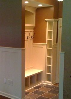great idea for small mudroom