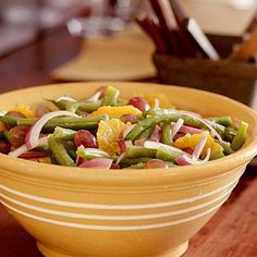 Halloween Green Bean Salad   CookingLight.com