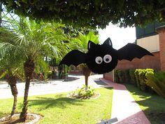 Morcego fofo de pompom #receita #halloween