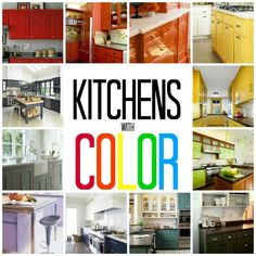Kitchens with Color #inspiration #ideas