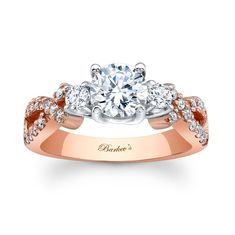 Rose Gold Engagement Ring 7682LW  [I think this is my favorite. Looks kinda like Mama's, and is rose gold. What's not to love?]
