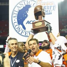 Leather Football Helmet Award Presented to the Winner of the Clemson /Auburn Game made by Past Time Sports