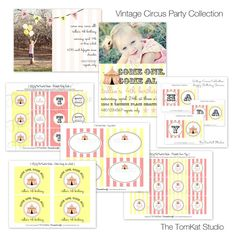 printable pink & yellow circus party for girls