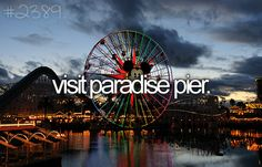 bucketlist, paradis pier, buckets, die, places