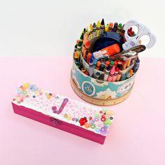 Decoden Pencil Box DIY from Dollar Store Crafts #ThursDIY