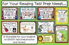 It IS possible for your students to enjoy reading test prep and review! Stop over and check out my many resources for test prep including posters, games, word searches, and more! ($)