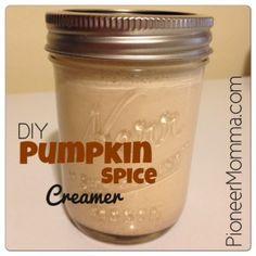 make your own pumpkin spice coffee creamer diy